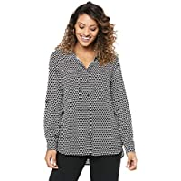 French Connection Women's Heart Button Through Shirt, Summer White/Nocturnal