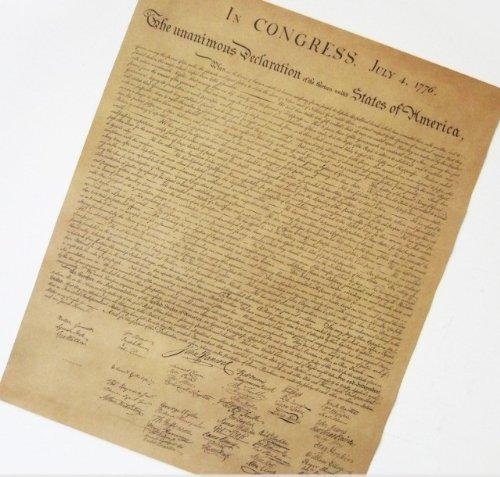 オシャレな インテリアに レプリカ風 アメリカ独立宣言 ポスター 52×42cm