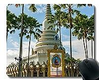 パーソナライズされたマウスパッド、すべての存在、最初から、タイの仏教寺院滑り止めラバーベースマウスパッド