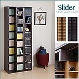 JKプラン Slider スライド本棚 大容量 本 漫画 収納 可能 スライド式 本棚 ハイタイプ 幅 70 ナチュラル MHV-0002-NA