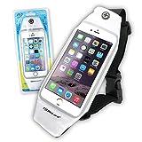 防水ポーチ 防水ケース スマホ iPhone7 Plus Xperia Galaxy ウエストポーチ 5.5インチ オンロード(OS-029W)白