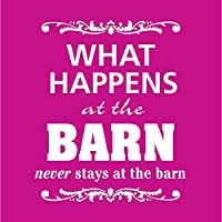 """The Sound Equine""""What Happens at the Barn."""" Tシャツ M"""