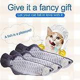猫おもちゃ かわいい猫玩具 ミント味が好きで ねこちゃん  楽しいや安全の猫のおもちゃ魚  20 cmの長さの猫のミント ペットおもちゃ シルバーアロワナ