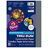 [Pacon]Pacon TruRay Construction Paper, 76 lbs., 9 x 12 Inches, Slate, 50 Sheets/Pack PAC103028 [並行輸入品]