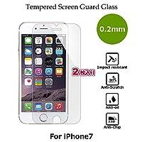【2枚入り】CASE FACTORY by nuglas Screen protector TEMPERED GLASS for iPhone8/7 日本製(AGC旭硝子製)ガラス使用 硬度9H 厚さ0.2mm 2.5Dラウンドエッジ 02tp7