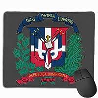 ドミニカ共和国の旗のロゴ マウスパッド ノンスリップ 防水 高級感 習慣 パターン印刷 ゲーミング ホビー 事務 おしゃれ 学習