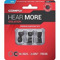 Comply(コンプライ) T-400 ブラック SML各1ペア入り 3ペア スタンダード イヤホンチップス Isolation BeatsX, Audio-Technica ATH-CKS, Bose QuietComfort, JVC, JBL, SoundMAGIC他 イヤホンをアップグレード 高音質 遮音性 フィット感 脱落防止イヤーピース 「国内正規品」HC17-40200-04