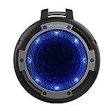 Bluetooth スピーカー MindKoo ポータブル 小型 アウトドア スピーカー IPX8防水 マイク内蔵 4ライトモード変換 高音質 重低音 iPhone/iPad/iPod/Androidスマホ/タブレット/パソコン対応