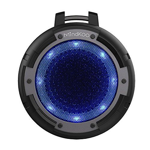 Bluetooth スピーカー MindKoo IPX8 防水 アウトドア ワイヤレス スピーカー ポータブル 小型 マイク内蔵 4ライトモード変換 高音質 重低音 iPhone/iPad/iPod/Androidスマホ/タブレット/パソコン対応