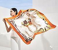 WENSLI レディースファッション 絹スカーフ 100%蚕糸上質 柔らかい エレガント シルクツアー 大判 ストール ピンク