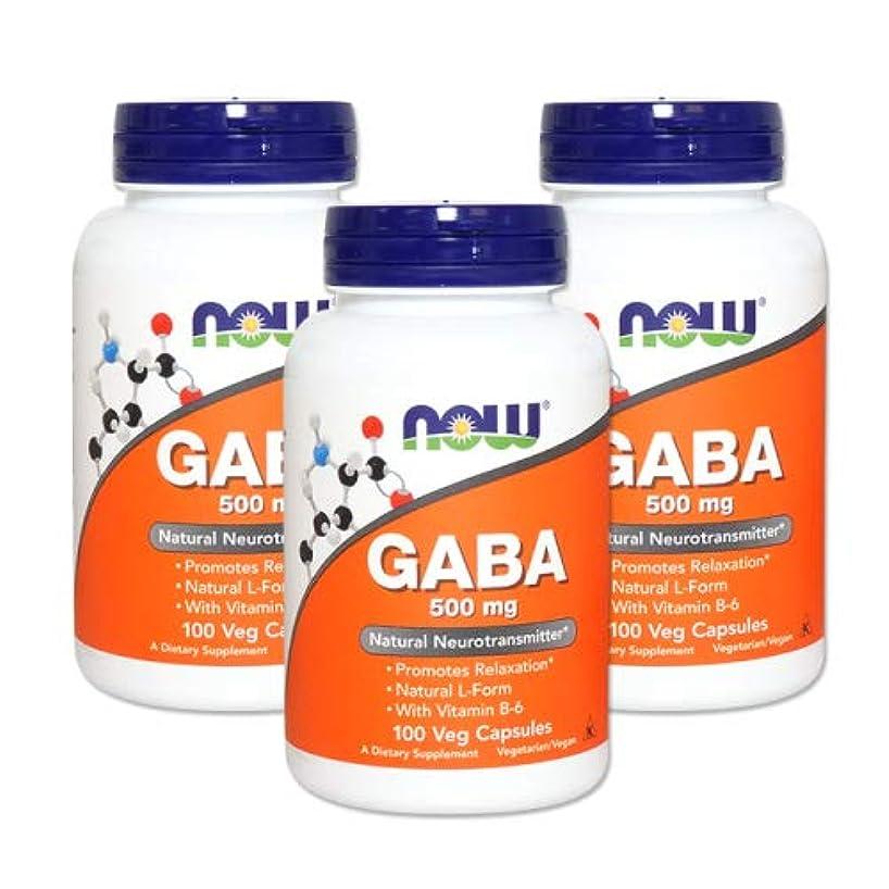探す手足感心する3個セット ギャバ(GABA) + ビタミンB6 500mg 100粒 [海外直送品]