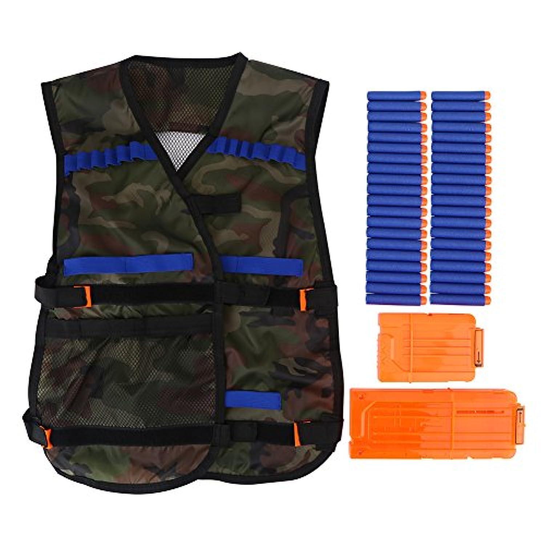 戦術ベスト タクティカルベスト アウトドア 保護用ベスト ベスト 子供用 スポーツ オックスフォード ジャケット おもちゃ EVA弹丸