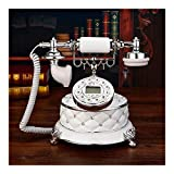 American retro fixed telephone, antique european home dial rotary landline style office classic creative metal fashion (Color : Double bell version)