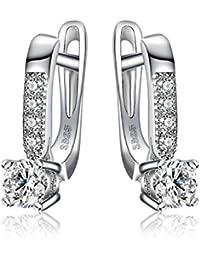 JewelryPalace 1ct 合成石 ダイヤモンド キュービック ジルコニア CZ ピアス スターリング シルバー925 ピアス