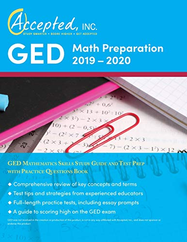 Download GED Math Preparation 2019-2020: GED Mathematics Skills Study Guide and Test Prep with Practice Questions Book 1635305071