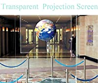 HOHO 透明スクリーンフィルム ホログラフィックプロジェクター リアプロジェクションフィルム 粘着ステッカー 60インチx70インチ