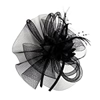 ノーブランド品 女性 ヘッドバンド ベール 帽子 カクテル パーティー 衣装 全9色 - カラー1