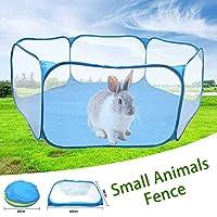 小動物ケージテント通気性透明ベビーサークルポップオープンポータブル折りたたみヤードフェンス用ハリネズミモルモットウサギ