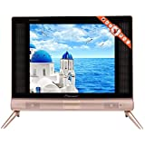Smart TV, Flat 17inch HD LCD TV RGB Portable Mini Television HDMI/USB/VGA/TV/AV with Stereo Sound for Home Office(AU Plug)