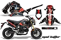 ホンダgrom1252013–2015MXダートバイクグラフィックキットステッカーデカールGrom 125Hatterブラック