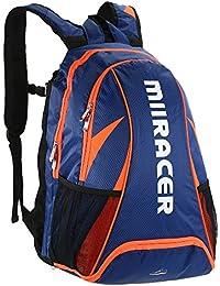 Lixadaバドミントンラケットバックパックテニスラケットバックパックホルダーショルダーバッグwith独立シューズバッグアウトドアスポーツバッグ