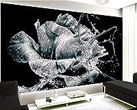Yosot 写真の壁紙ピンクローズのテレビの背景花のロマンチックなリビングルームのベッドルームの壁画壁の豪華な壁紙