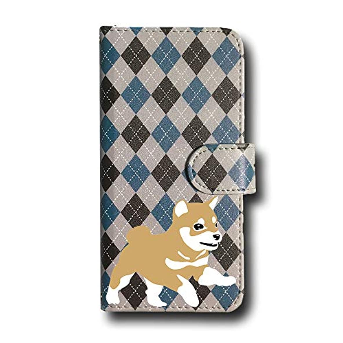 置換世界数学豆柴 赤毛 アーガイル スマホケース Android 手帳型 アーガイルC FREETEL Priori4 FTJ162D Fave フェイブ a0131A082-A203L284 アーガイル柄 チェック そろばん柄 柴犬 茶柴 日本犬 犬 ペット スマホカバー スマートフォン 携帯 スマホ ブック型