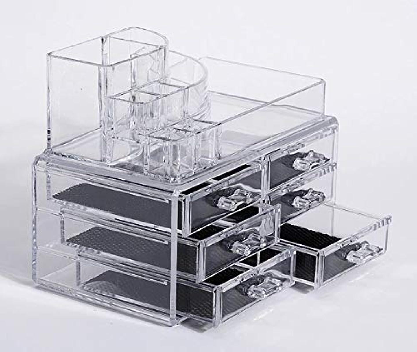 郵便局靴構想する化粧品収納ボックス メイクボックス 化粧品 収納 ニオイなし 騒音なし 防塵 高透明度 強い耐久性