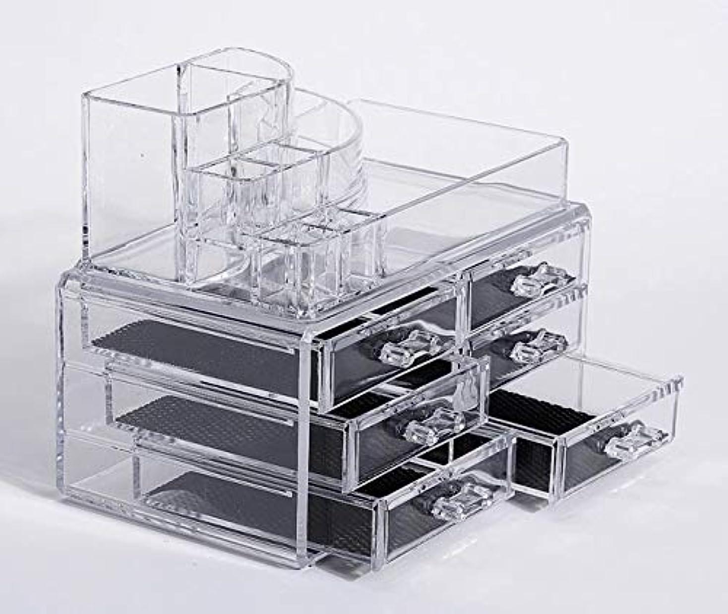 硬い上へ悪化させる化粧品収納ボックス メイクボックス 化粧品 収納 ニオイなし 騒音なし 防塵 高透明度 強い耐久性