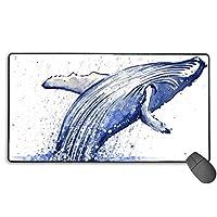 浮世鯨 マウスパッド 大型 ゲーミングマウスパッド キーボードパッド 防水マウスパッド 拡張マウスパッド 滑り止め ゲーム向け オフィス おしゃれ 750*400*3mm