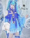 [milky time]ウィッグ付き 雪ミク 風 コスプレ 衣装 アニメ