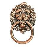 Amazon.co.jpSODIAL(R)アンティークスタイルの銅のトーンメタルライオンヘッド形の引き出しプルハンドル2.5