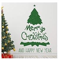 Juanong メリークリスマスツリーデコレーションウォールステッカー用リビングルームホームウォールステッカーアート壁画新年30x90cm