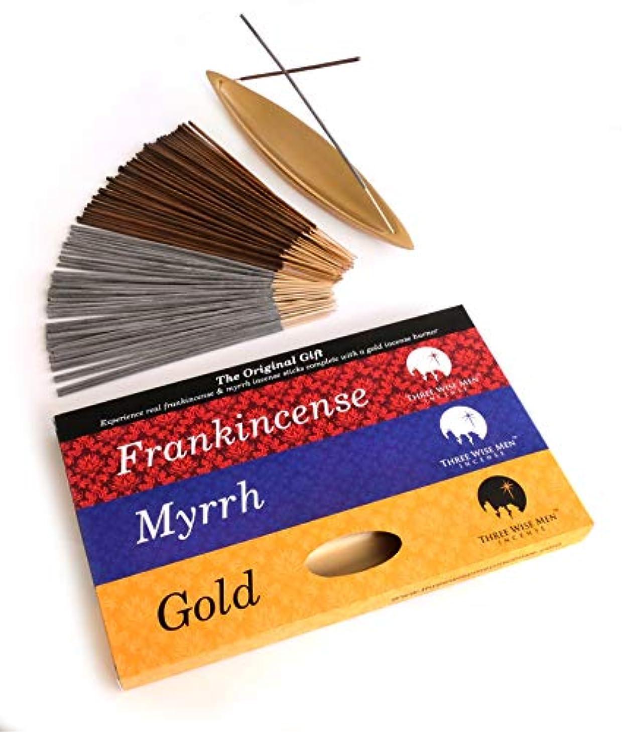 熱帯の手当パンチThree Wise メンズ お香 フランキンセンス ミルラ & ゴールド - オリジナルギフト