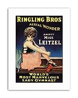 Circus Ringling Bros Dainty Leitzel Gymnast Canvas Art Print