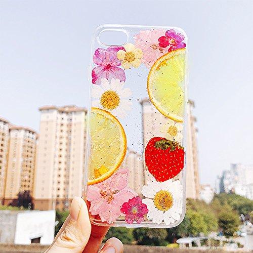 押し花 flower フラワー iPhone8 TPU ケー...