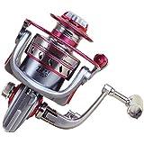 釣り用リール スピニングフィッシングリール12 + 1ベアリング左右交換ハンドルダブル海水淡水釣り用ダブルドラッグブレーキシステム (サイズ : 6000)