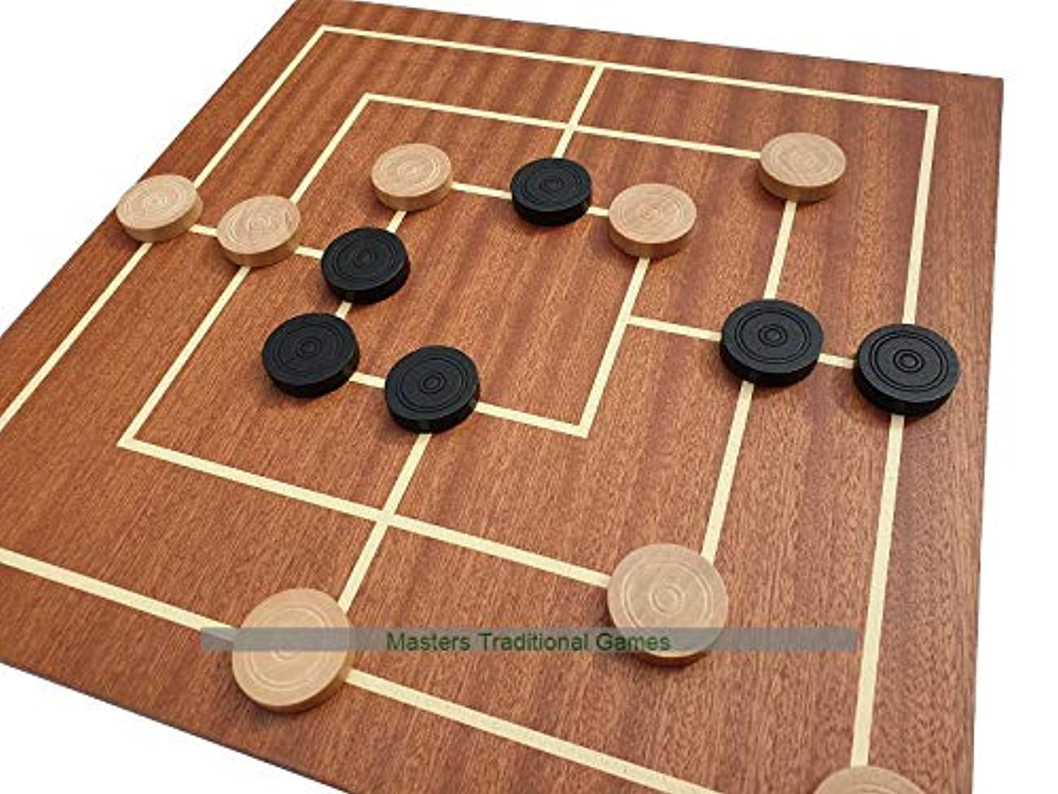 Dal Negro Nine Men's Morris Board and Wooden Pieces