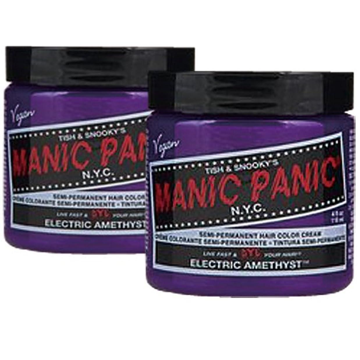 カーテンミルク耐えられない【2個セット】MANIC PANIC マニックパニック Electric amethyst エレクトリックアメジスト 118m