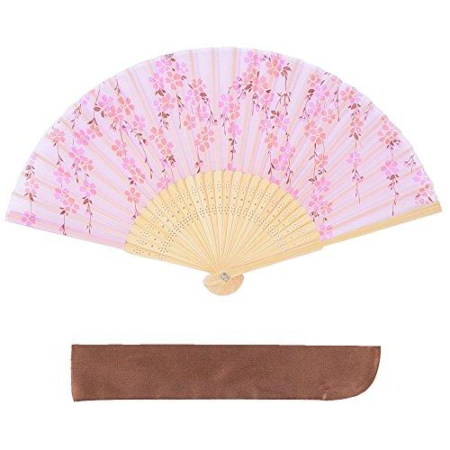シルク 扇子 桜 花 花柄 扇子袋付 箱入り 母の日 プレゼント 暑さ 対策 レディース 女性 ピンク ピンク