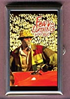 Hunter S. Thompson Fear and Loathing in Las Vegas Gonzo Red Background Decorative Pill Box by Coastal Colors