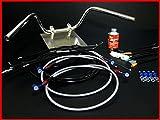バリオス セミしぼりアップハンドル セット 15cm アップハン BK/メッシュブレーキ アップハン バーテックス