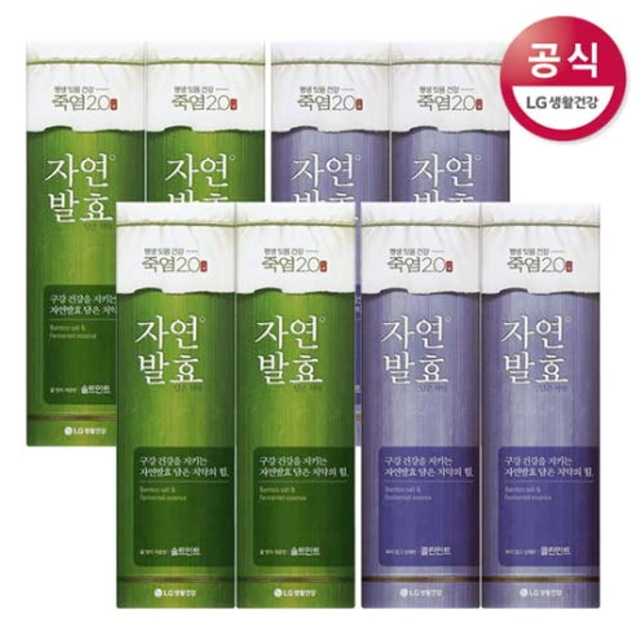 頑丈会話パートナー[LG HnB] Bamboo salt natural fermentation toothpaste/竹塩自然発酵入れた歯磨き粉 100gx8個(海外直送品)