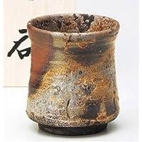 備前焼 陶峰窯 桟切焼 湯呑(特) サイズ::径7.5 x 10cm (300ml)