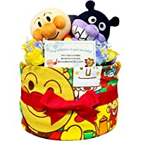 おむつケーキ アンパンマン バイキンマン 出産祝い 1段 1001(1歳のお誕生日プレゼント)