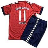 サッカーユニフォーム 2019モデル バイエルンミュンヘン ホーム ハメス・ロドリゲス JAMES 背番号11 レプリカサッカーユニフォーム 子供用 S