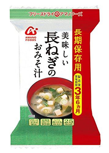 アマノフーズ 長期保存用 長ねぎの味噌汁7g 6袋 (フリーズ...