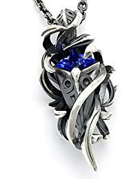 [エムズコレクション] Ms collection テンタクルス ラーヴァ ネックレス シルバー サファイア メンズ 50cm XP-021QAB-FLD80S-50