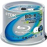 【Amazon.co.jp限定】TDK 録画用ブルーレイディスク BD-R 25GB 1-4倍速 ホワイトワイドプリンタブル 50枚スピンドル BRV25PWB50PK