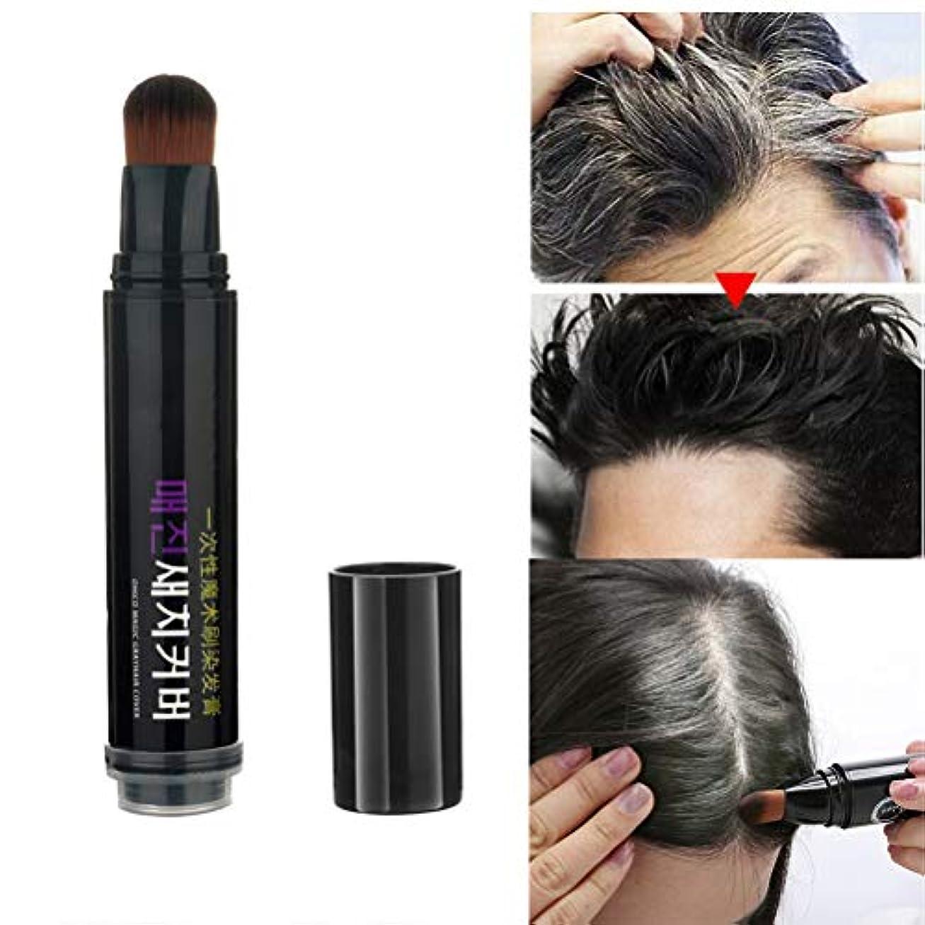 一人で遠近法プラスsupbel 白髪染めペン 白髪隠し ペン型 ヘアケア スティック 簡易髪染 無添加 植物エキス 染髪剤 生え際 携帯式 美容 ナチュラル